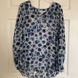 Liz Claiborne NWT sheer top with camisole